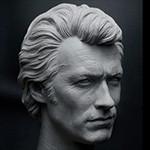 Клинт Иствуд. Грязный Гарри. Скульптор K.A.KIM - kyung-ah kim.