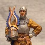 Оловянная миниатюра Европейский рыцарь XIV века
