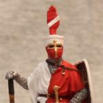 Оловянная миниатюра Германский рыцарь XII-XIIIвв.