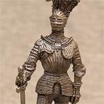 Оловянная миниатюра германский рыцарь XVIв.