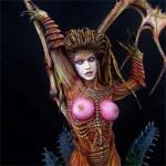 Смоляная миниатюра Сара Луиза Керриган - Королева Клинков.