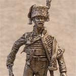 Оловянная миниатюра офицер гвардейских конных егерей. Франция. 1805-15 гг.