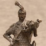 Оловянная миниатюра офицер польско-литовских гусар XVIIв
