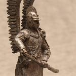 Оловянная миниатюра польский крылатый гусар XVIIв.