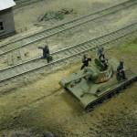 Диорама ремонт переправы под огнем врага