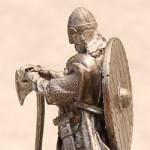 Оловянная миниатюра викинг XIв.