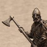 Оловянная миниатюра викинг с топором IXв.