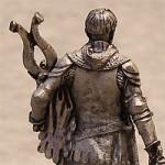 Оловянная миниатюра западноевропейский рыцарь XIV века
