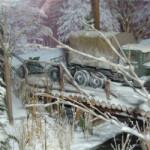 Диорама Зимний Лес 1942 года. Автор Мишутка.
