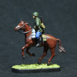 Пластмассовая сборная миниатюра Советская кавалерия