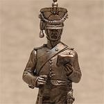 Оловянная миниатюра французский конный егерь