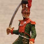 Оловяная миниатюра французский офицер шеволежерского полка. 1811-15гг.