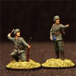 Пластмассовые солдатики. Немецкий пехотный взвод.