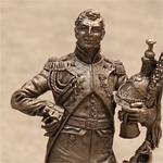 Оловянная миниатюра полковник гвардейских драгун. Франция. 1808-14 годы.