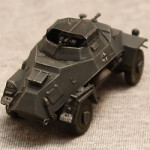 Масштабная модель легкого бронеавтомобиля SD.KFZ. 222. ICM. #72411