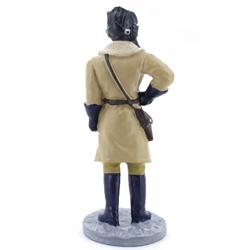 Оловянная миниатюра офицер бронетанковых войск  в зимней полевой форме