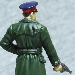 Оловянная миниатюра офицер НКВД в повсдневной форме