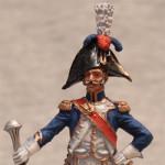 Оловянная миниатюра тамбурмажор линейного полка. Франция.