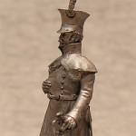 Оловянная миниатюра улан в шинели