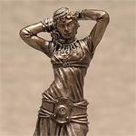 Оловянная миниатюра восточная танцовщица