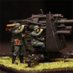 Масштабная модель Немецкое тяжелое зенитное орудие FLAK 36-37
