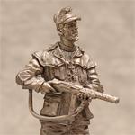 Оловянная миниатюра. Милиционер Национальной гвардии. Италия 1943-1945.