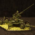 Масштабная модель. Советское 37-мм орудие 61-К с расчётом.