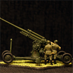 Масштабная модель. Советское 85-мм зенитное орудие 52-К.
