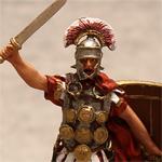 Оловянная миниатюра римский Центурион II легиона Августа