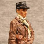 Оловянная миниатюра капитан танковых войск. Франция. 1939-40. del Prado.