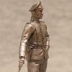 Оловянная миниатюра подпоручик русской армии в полевой форме