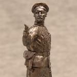 Оловянная миниатюра полковник русской армии