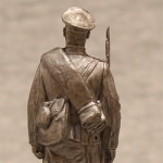 Оловянная миниатюра рядовой русской армии в походной форме