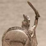 Оловянная миниатюра спартанец