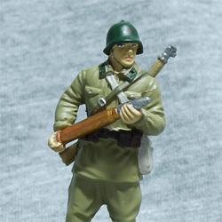 Оловянная миниатюра артелерист РККА в летней полевой форме
