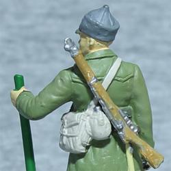 Оловянная миниатюра сержант инженерных частей РККА в полевой форме
