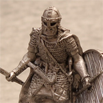 Оловянная миниатюра викинг