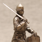 Оловянная миниатюра воин Великого Княжества Литовского. Черненая.