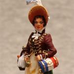 Оловянная миниатюра французская маркитантка