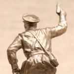 Оловянная миниатюра майор стрелковых войск СССР