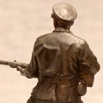 Оловянная миниатюра рядовой пограничных войск СССР