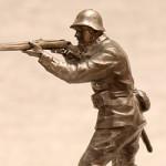 Оловянная миниатюра рядовой стрелковых войск СССР