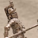 Оловянная миниатюра английский рыцарь