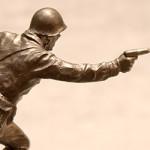 Оловянная миниатюра сержант стрелковых войск ссср