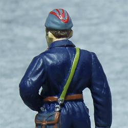 Оловянная миниатюра сержант автобронетанковых войск в полевой форме