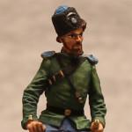 Оловянная миниатюра хорунжий Оренбургского казачьего войска