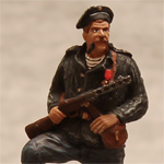 Оловянная миниатюра старшина 2-й статьи морской пехоты СССР