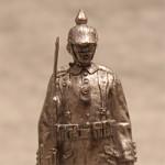 Оловянная миниатюра рядовой Германской армии в походной форме