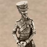 Оловянная миниатюра артиллерист полка полевой артиллерии принца Августа Прусского