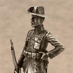 Оловянная миниатюра Кавалерист колониальных войск. Юго-западная Африка.